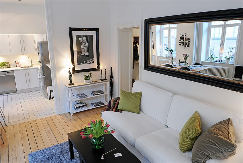 decoracao de apartamentos pequenos fotos:Apartment Living Room Mirror Decorating Ideas