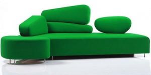 sofas modernos verdes