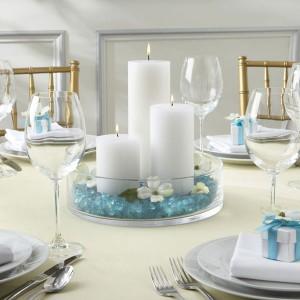 decoração de mesas azul