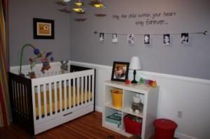 decoração paredes quarto de bebé