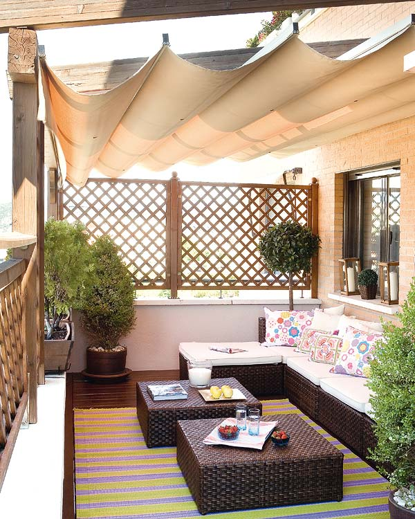 Fotos de decoração de terraços