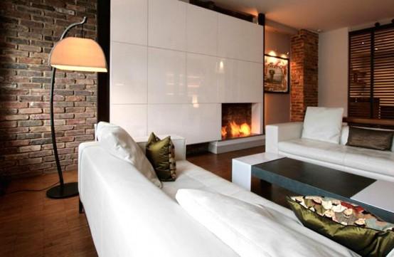 decoracao de interiores sotaos:lareiras modernas 13 – Fotos de Decoração