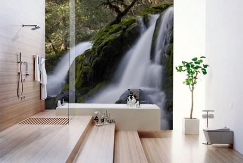 papel de parede casa de banho