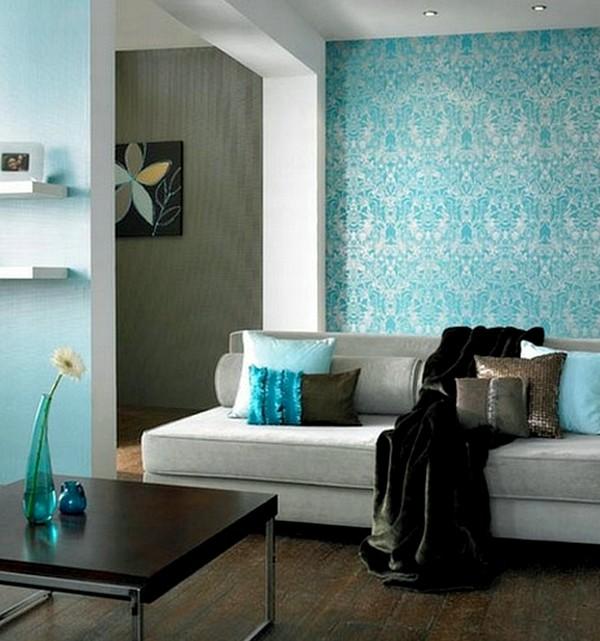 papel de parede na sala de estar