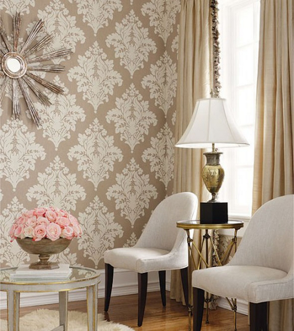 Fotos de decora o com papel de parede for Front room wallpaper ideas