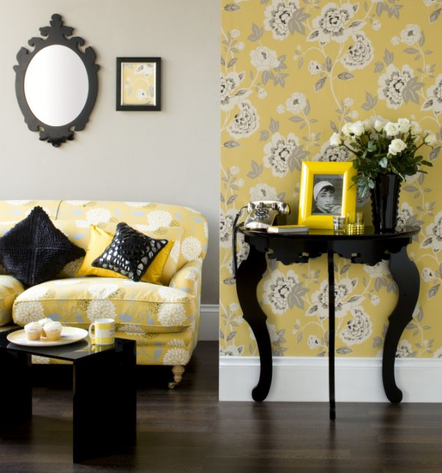 Acessorios sala 17 for Grey black and yellow living room