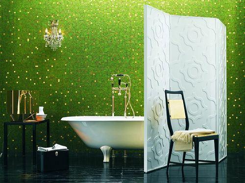 banheiro decorados com pastilhas verdes