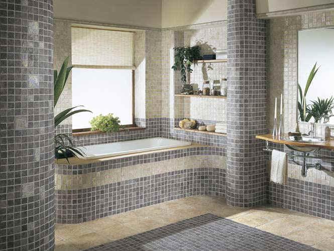 banheiros com pastilhas cinza