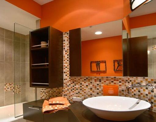 banheiros com pastilhas modernos