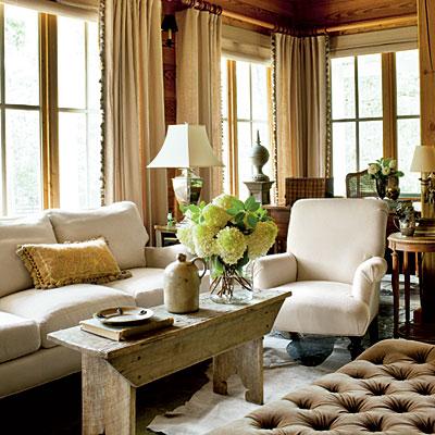 Fotos de decora o de salas r sticas for Southern style living room designs