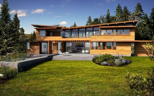 Casas americanas for Piani casa eco friendly