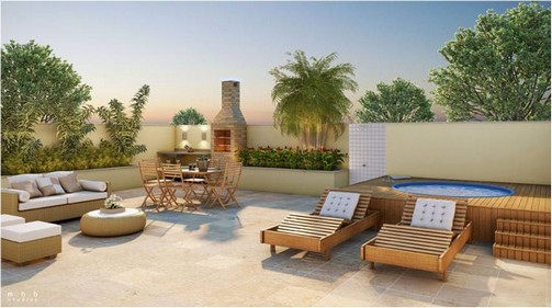 Decoraç u00e3o de terraço com churrasqueira -> Decoração De Terraço Com Churrasqueira