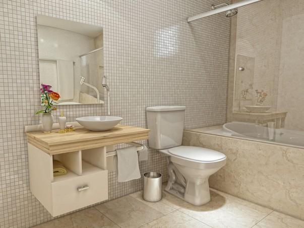 #474355 Fotos de decoração de banheiros simples 603x452 px Decoração De Banheiro Simples E Bonito 3818