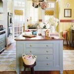 cozinhas coloridas planejadas vintage