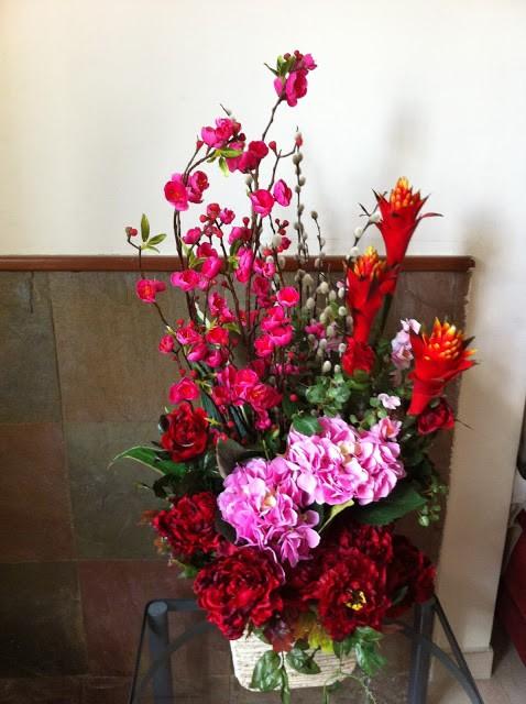 Decoração com vasos de flores artificiais -> Decoracao Banheiro Flores Artificiais