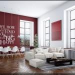Fotos de decoração de salas com papel de parede