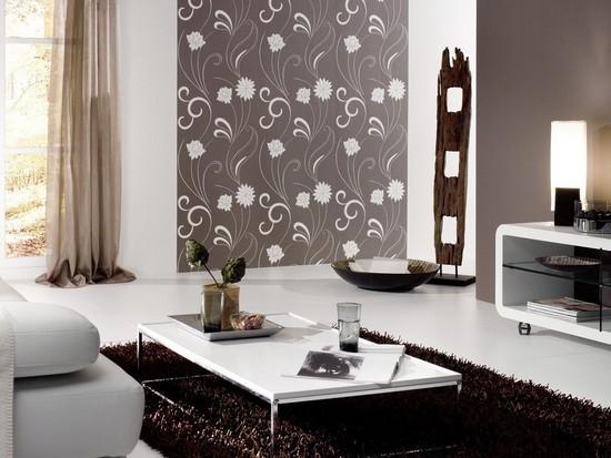 Fotos de decora o de salas com papel de parede for Carta da parati moderna 3d